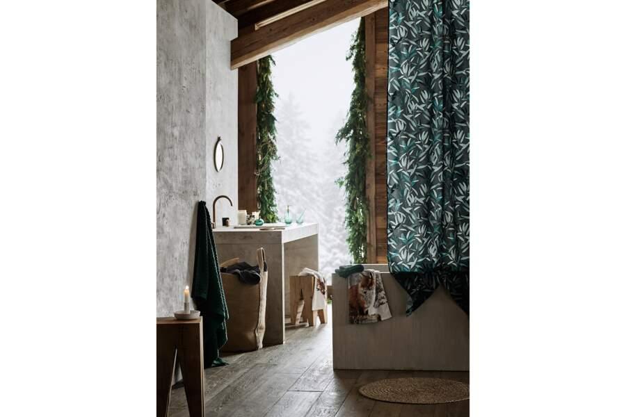 Une déco de salle de bain qui s'inspire de la forêt