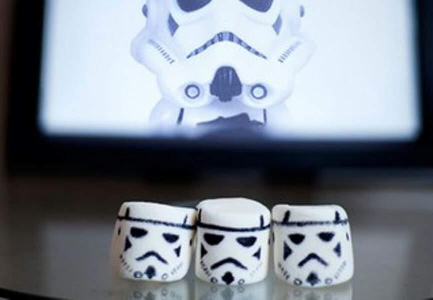 Des chamallows déguisés en Stormtrooper