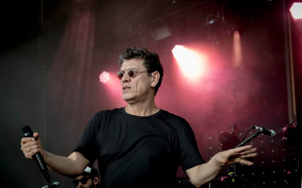 Marc Lavoine en concert au festival Le Printemps De Perouges, à Saint-Vulbas, France, le 27 juin 2019.