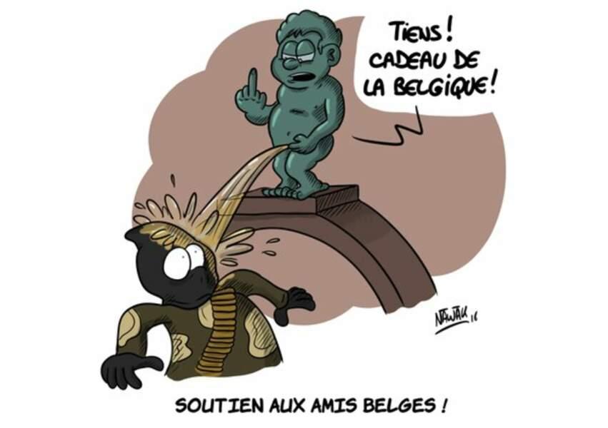 Le Manneken Pis, un symbole également choisi par l'illustrateur breton Nawak