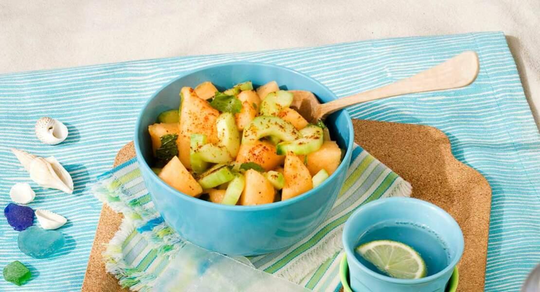 Melon en salade