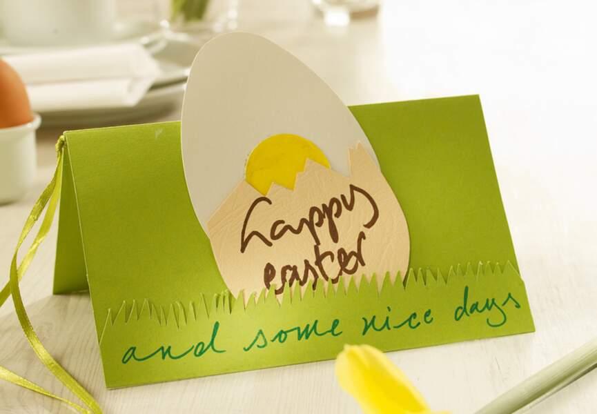 Une carte de voeux pour Pâques