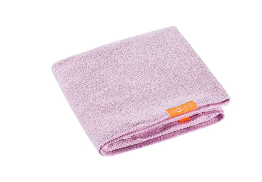 La serviette séchante Lisse Liuxe Hair Towel Aquis