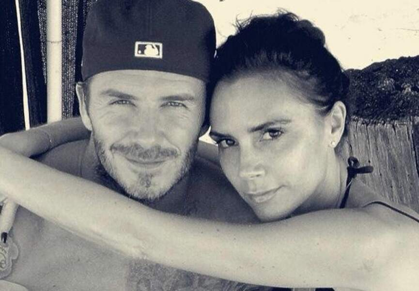 Victoria et son mari David Beckham, sans chichi au bord de l'eau