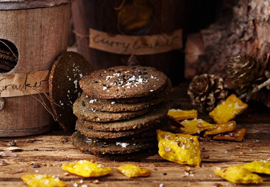 Biscuits au sésame et au curry