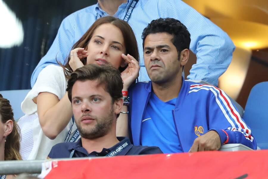 Mélissa Theuriau et son mari  au match de la finale de l'Euro 2016
