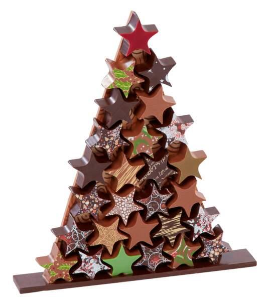 Sapin de Noël chocolat et praliné