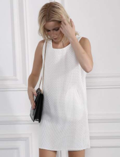 Robe blanche : résille