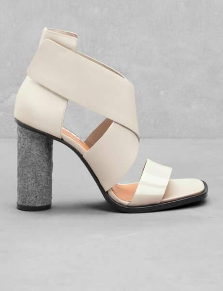 Les sandales à talons pailletés
