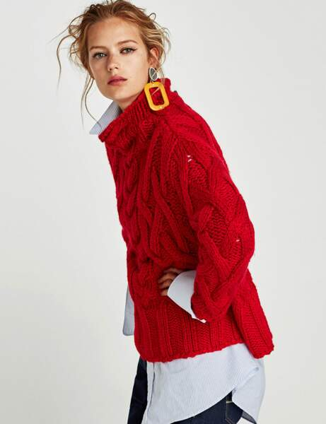 Col montant : le pull eighties