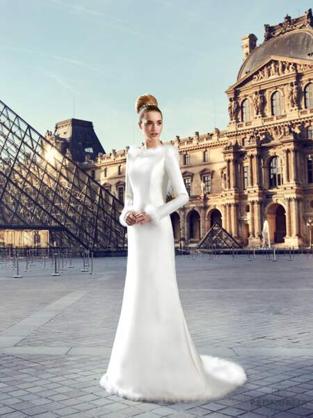 Mariage en hiver : Robe de mariée Louvre par Pronuptia