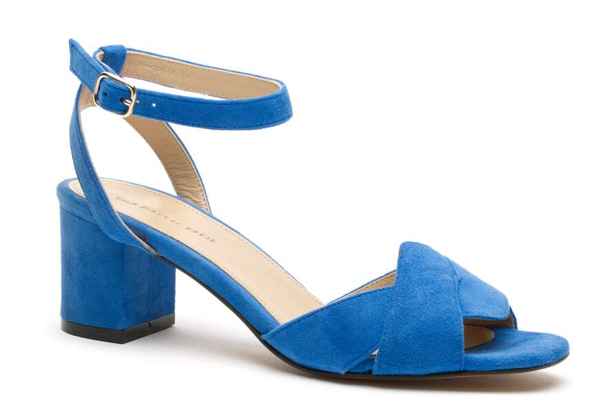 Sandales façon daim
