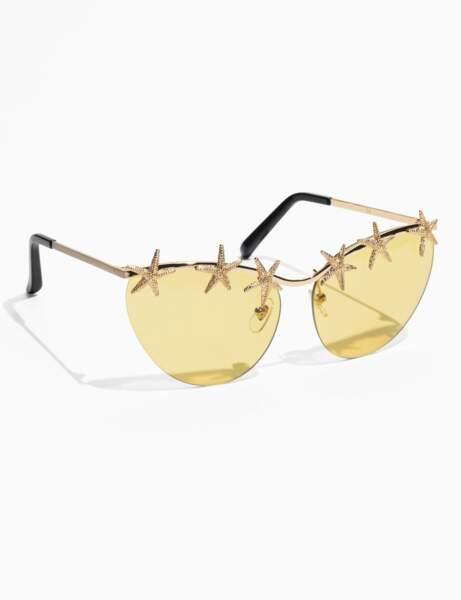 Tendance coquillages et crustacés : lunettes de soleil étoile de mer