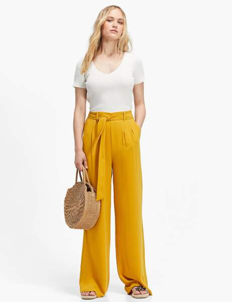 Pantalon : jaune safran
