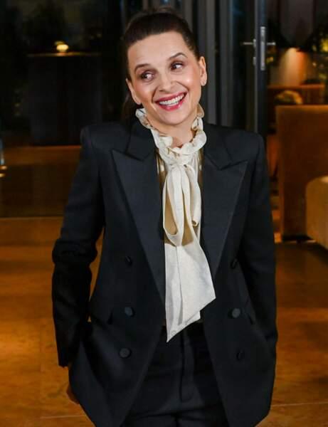 Juliette Binoche glamour à Berlin