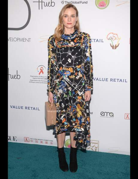 Les bottines noires de Diane Kruger