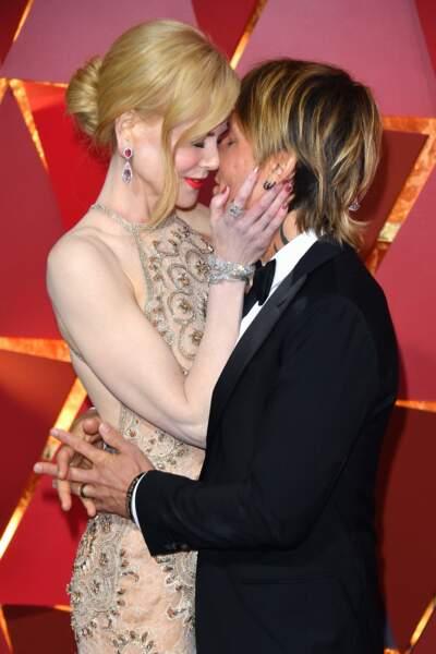 Nicole Kidman et Keith Urban à la 89ème cérémonie des Oscar à Hollywwod en 2017.