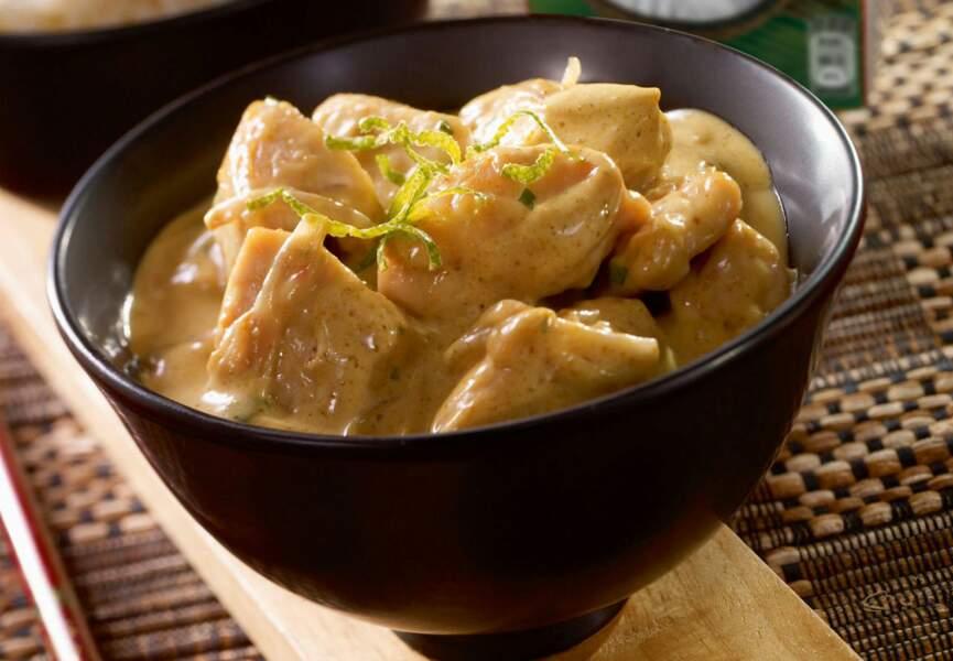Poulet curry au lait de coco