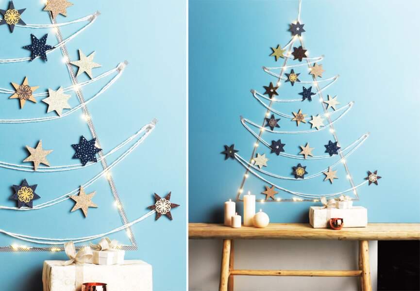 Un sapin de Noël en étoiles