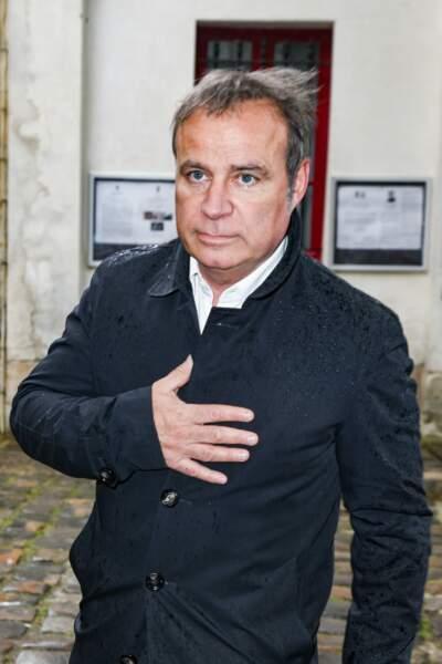 Fabien Lecoeuvre aux obsèques de Dick Rivers en l'église Saint-Pierre de Montmartre, à Paris, le 2 mai 2019.