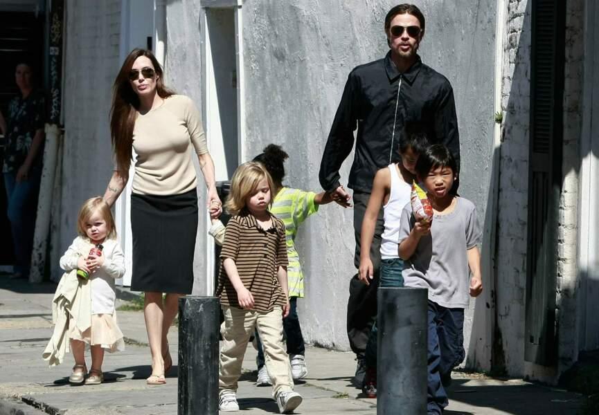 Brad Pitt et Angelina Jolie : trois enfants adoptés