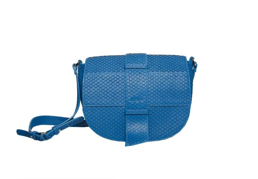 Tendance sac 2018 : sac bandoulière bleu