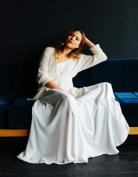 Mariage en hiver : Robe de mariée Grant + Nelson par Maison Floret