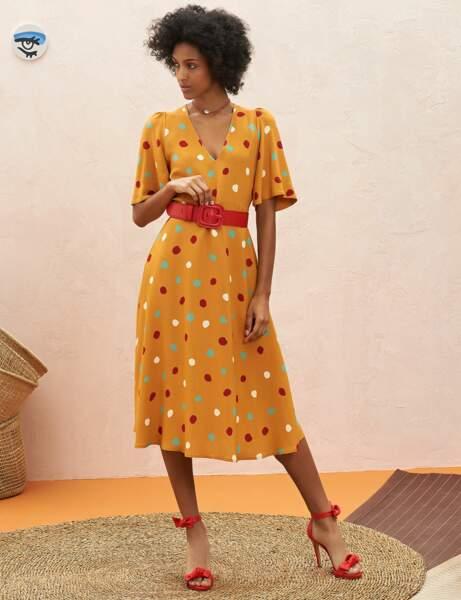 Tenue de cérémonie : la robe multicolore