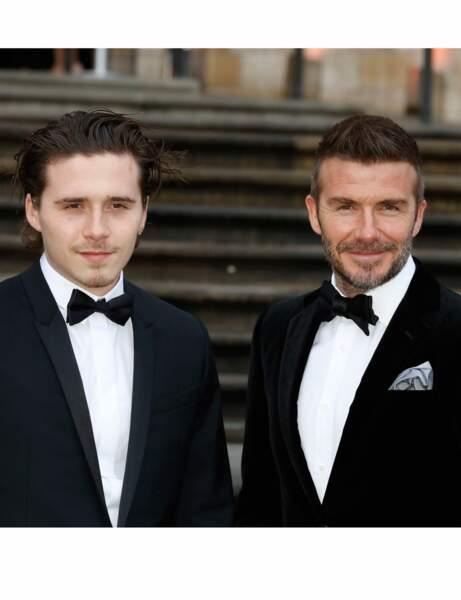 Brooklyn et David Beckham