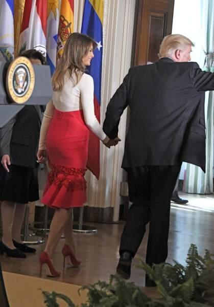 La jupe de Melania Trump a beaucoup plu