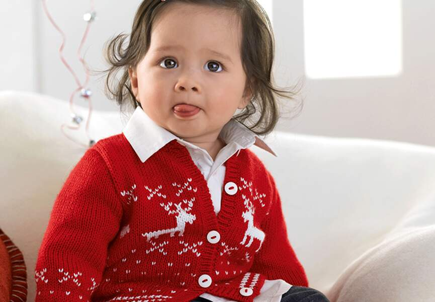 Un pull en Jacquard à motif de Noël