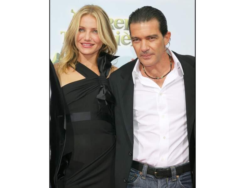 """Il pose au côté de Cameron Diaz à l'Avant-Première du film """"Shrek 3"""" en 2007"""