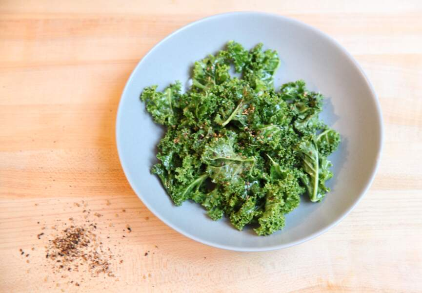Salade de chou kale au sésame