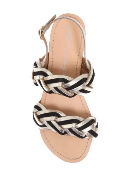 Sandales en cuir tressées