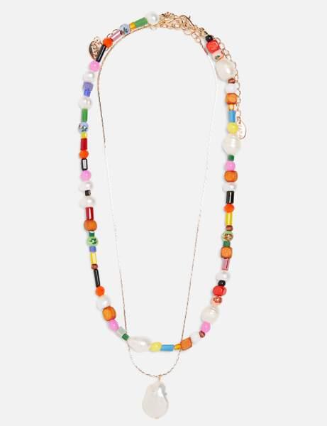 Zara: les colliers perles