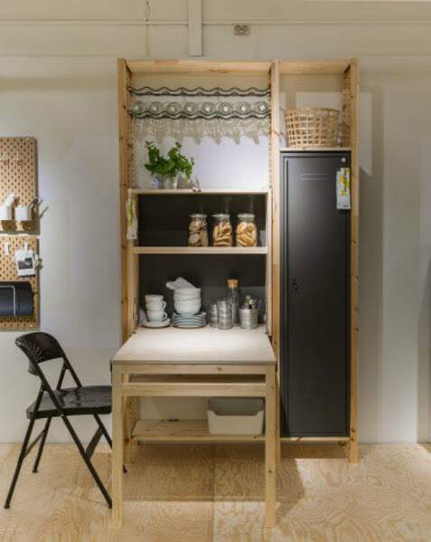 Micro Living : l'ensemble table Ivar