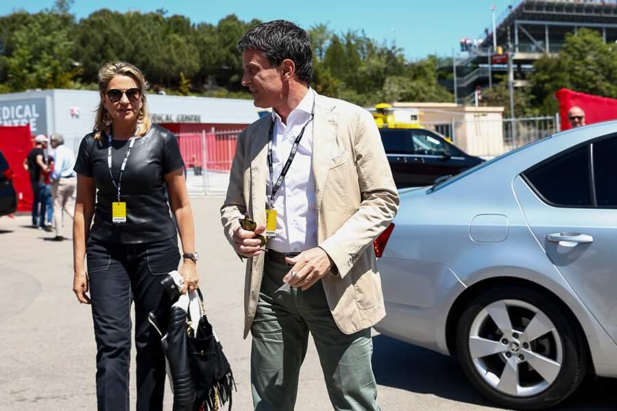Manuel Valls et Susana Gallardo au Grand Prix d'Espagne à Barcelone, le 12 mai 2019