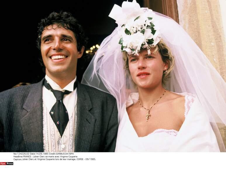 Julien Clerc se marie avec Virginie Couperie le 14 septembre 1985...