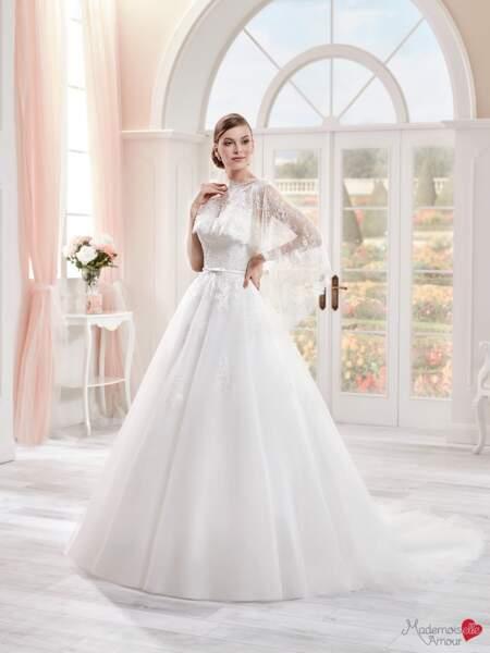 Mariage en hiver : Robe de mariée Mlle Éva par Mademoiselle Amour
