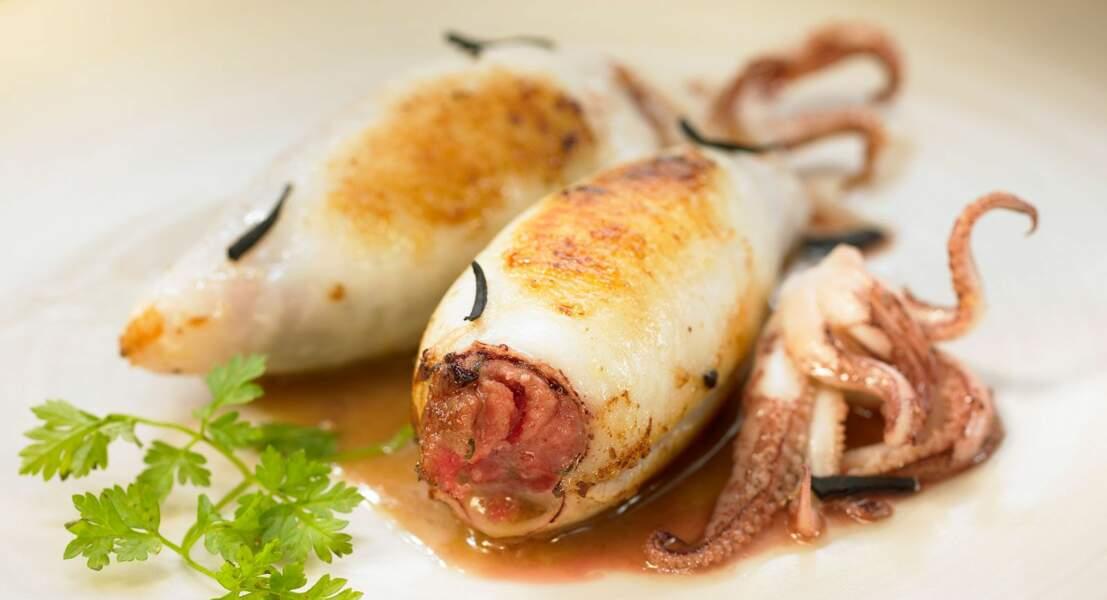 Calamars farcis à la viande de porc