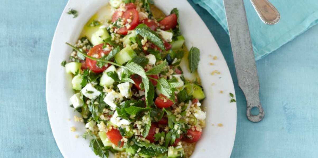 Salade grecque au boulghour