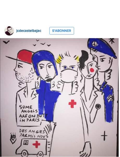 Les dessins bleu blanc rouge de Castelbajac