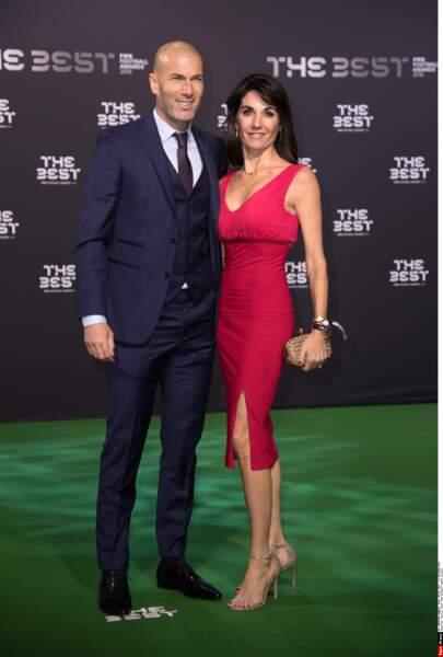 Zinédine Zidane et sa femme Véronique : 2017