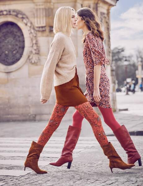 Tendance orange : les collants Boho