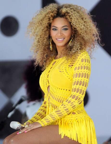 La coiffure afro de Beyoncé