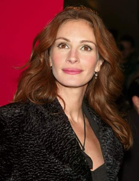 """A la première du film """"Le sourire de Mona Lisa"""" à New York en 2003"""