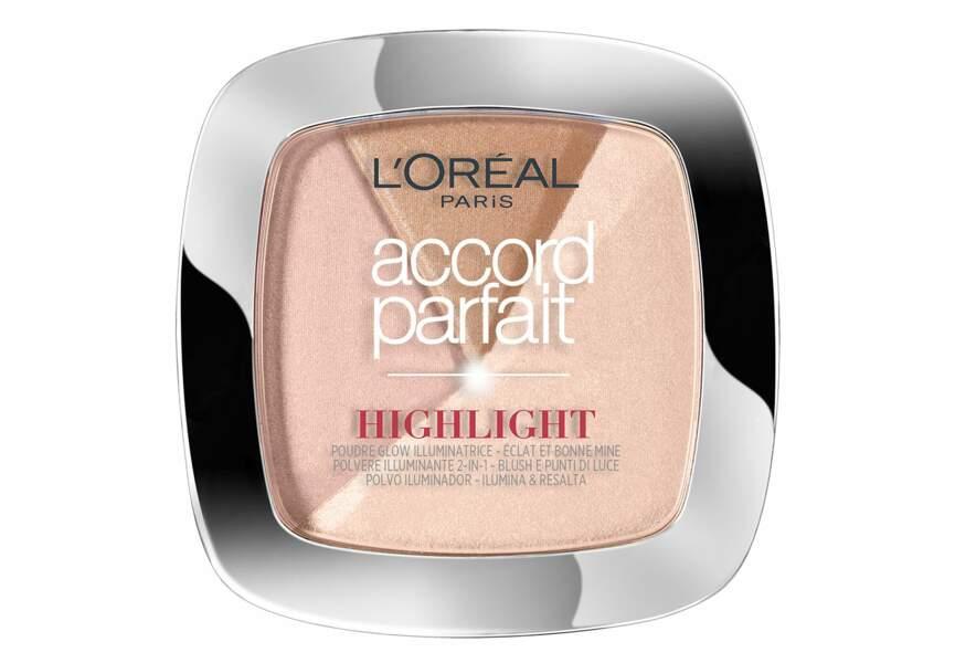 Blush Illuminateur Accord Parfait Highlight, L'Oréal Paris : illuminateur