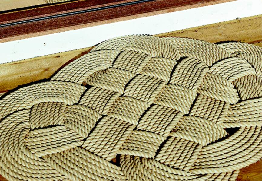 Un tapis tressé