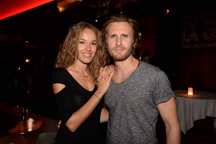 Philippe Lacheau et sa compagne Elodie Fontan fêtent les 3 millions d'entrées du film Alibi.com le 15 mars 2017.