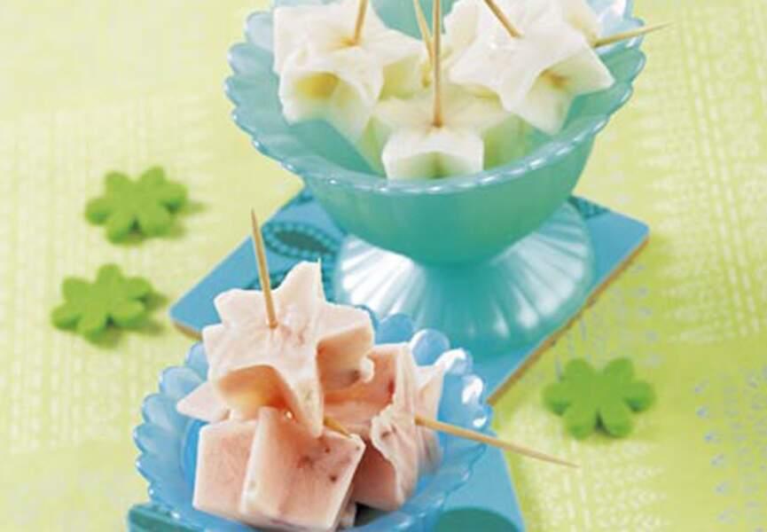 Glaçonnets au yaourt et aux fruits